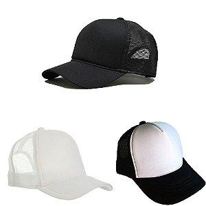 Combo: Trucker preto + Trucker branco + Trucker preto com branco
