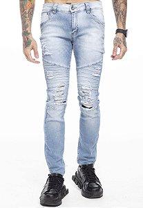Calça Jeans Costura Relevo Clara