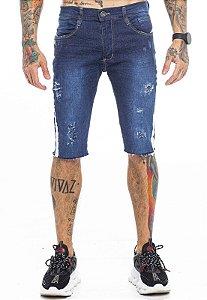Bermuda Jeans Com Fita Lateral