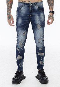 Calça Classic Rasgada Jeans