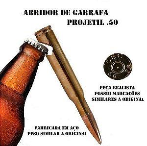 Abridor de Garrafa - Projétil .50
