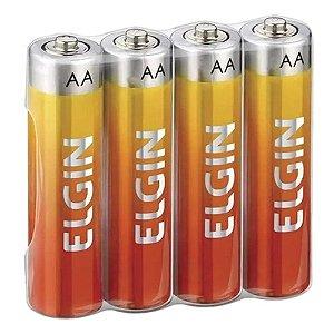 Pilha de Zinco Elgin Energy AA  (Pacote com 4)