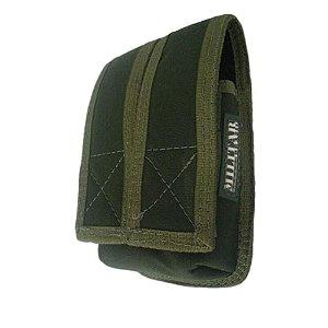 Porta Carregador Duplo de Pistola K-12 Velcro (Verde)