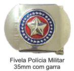 Fivela da Polícia Militar - PM (Metal)