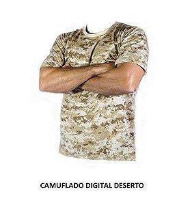 Camiseta Camuflada Digital Deserto
