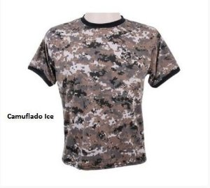 Camiseta Camuflada Digital Ice