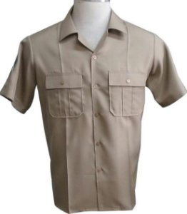 Camisa Bege Exército Brasileiro Manga Curta (Masculino)