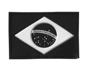 Bandeira Preta do Brasil Emborrachada