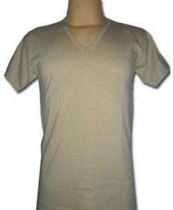 Camiseta Bege Gola V (usada em baixo do Delta)