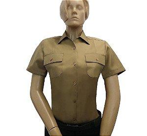 Camisa Social Bege Exército Brasileiro (Feminina)