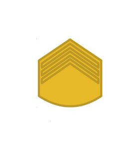 Divisa de Metal de 3° Sargento (Unidade)