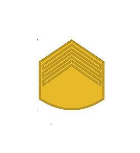 Divisa de Gola Metal de 3° Sargento (Unidade)