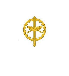 Divisa de Gola Metal Oficial QAO (Unidade)