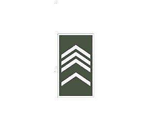 Distintivo de 2° Sargento (Emborrachado)