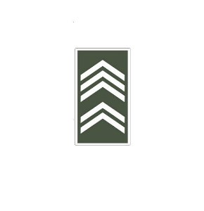 Divisa de Gola 1° Sargento (Emborrachado)