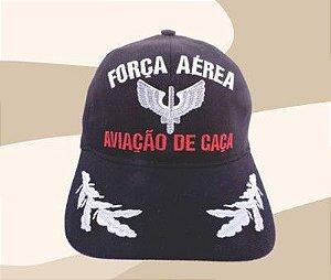 Boné Força Aérea Aviação de Caça - Aba Bordada