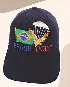 Boné Bordado Brasil PQDT