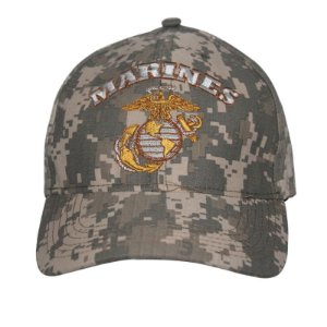 Boné Bordado Marines Camuflado Digital ACU