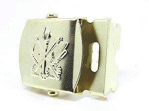 Fivela de Metal Dourada Bombeiro (Rolete)