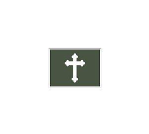 Divisa de Gola Capelão Católico (Emborrachado)