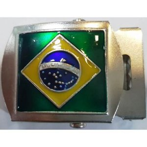 Fivela de Metal Bandeira (Rolete)