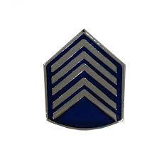 Divisa de Gola Metal de 1° Sargento PM (Unidade)