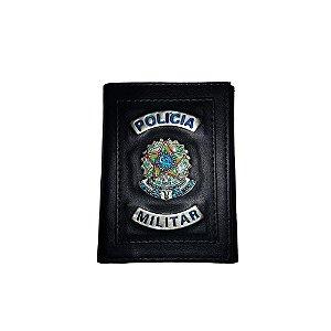 Carteira Polícia Militar (Brasão de Metal)