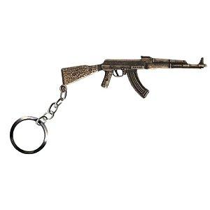 Chaveiro AK 47 Ouro Velho Bélica