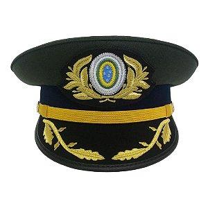 Quepe Oficial Superior Com Brasão Exército Brasileiro (Masculino)