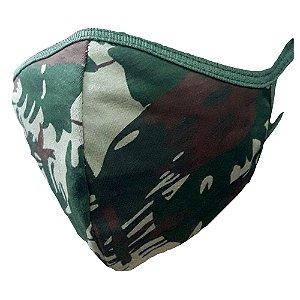 Máscara Proteção Camuflada (Tecido)