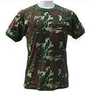 Camiseta Camuflada do Exército 100% Algodão