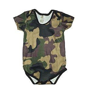 Body Bebê Camuflado Woodland