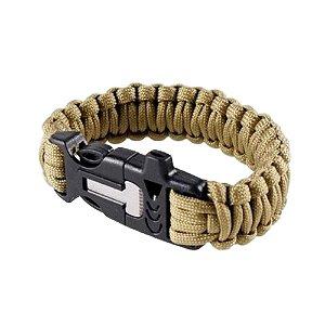 Pulseira Paracord C/ Pederneira/Apito (Bracelete Survival)