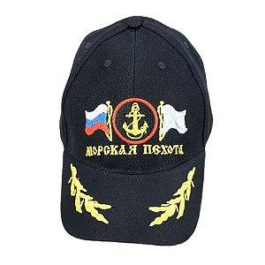 Boné Bordado  Marinha Russia (Aba Bordada)
