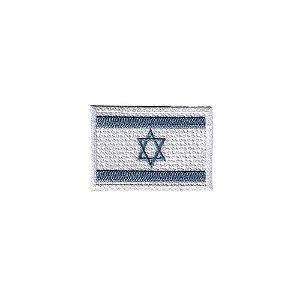 Bordado Termocolante Bandeira Israel