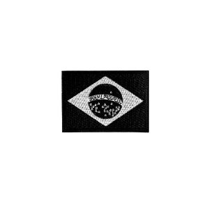 Bordado Termocolante Bandeira Brasil Negativa