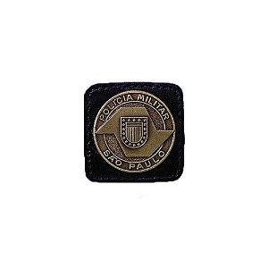 Broche Laurea 5° Grau PM/SP Couro (Preto/Ouro)