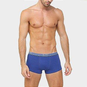 Cueca Lupo Boxer- Kit 2 Peças (Azul Royal/Azul Marinho)