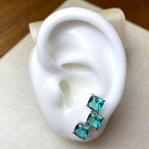 Brinco Ear Cuff Turmalina - Banho Ródio