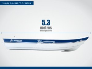 Barco de fibra 5 metros Shark 5.0