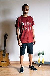Camiseta Foliage Marsala