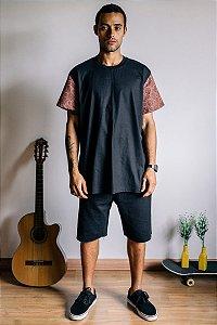 Camiseta Texture Mango Marsala