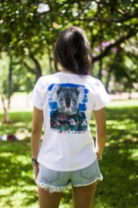 T-Shirt Koala Flowers