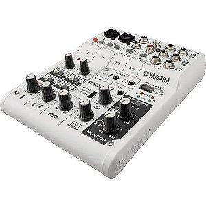 Mesa de Som e Interface de Áudio USB Yamaha AG06 Com 6 canais