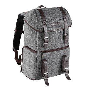 Mochila K&F Concept DSLR Camera Backpack, Cinza/Marron (KF13.080V1)