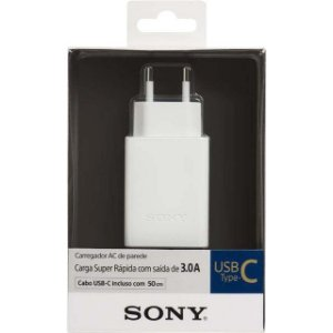 Sony Carregador USB Tipo C 3A CP-AD3 Branco USB-C