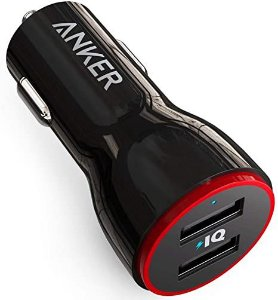 Carregador Veicular 2 Portas USB Preto