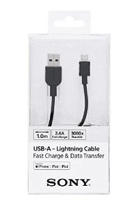 Cabo Sony USB x Apple Lightning 1m CP-AL100 Preto