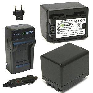 Kit Wasabi Carregador + 2 baterias Canon BP-727 (Vixia)