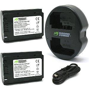Kit Carregador Duplo + 2 baterias NP-FZ100 Wasabi